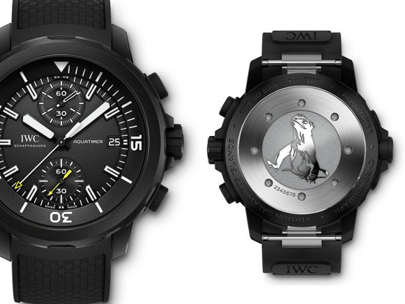 iwc schaffhausen aquatimer chronograph galapagos editionen uhr f r m nner iw379502 billig. Black Bedroom Furniture Sets. Home Design Ideas