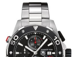 Bis 50 Bar druckfest: der TAG Heuer Aquaracer 500M Calibre 16 Chronograph Team USA