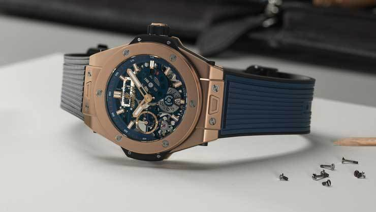 Big Bang Meca-10 Blue Ceramic Magic Gold